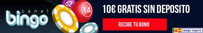 Canal Bingo Bono 10 Gratis