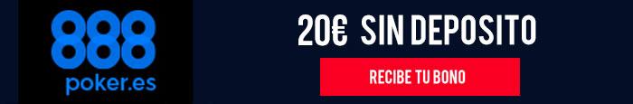 Bono 888 Poker 20€ sin deposito